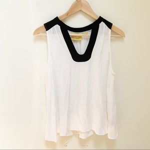 Anthropologie Maeve white and black blouse sz 4